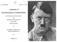 Podľa amerického psychológa sa v Hitlerovi neskrývalo nič dobré.