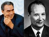Leonid Brežnev a Alexander Dubček