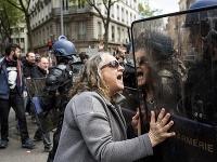 Protest v Paríži.