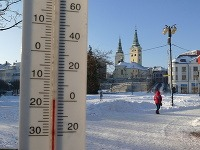 Včerajšia zima v Žiline.