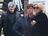 Zdena Studenková a Braňo Kostka po pohrebe herečkinej mamy.