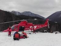 Fotografia zo záchrannej akcie vo Vrátnej doline.