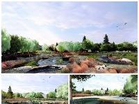Vizualizácie parku v Ružinove