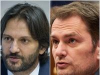 Robert Kaliňák a Igor Matovič v otvorenom spore.