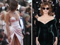 Na filmovom festivale v Cannes nie je núdza o provokatívne outfity.