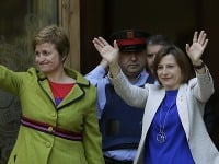 Regionálna prezidentka Carme Forcadellová a Anna Simová