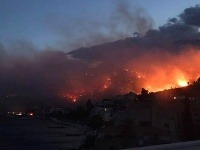 Požiar v Podgorici.