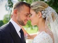 Prvá svadobná fotka Mariána Gáboríka a Ivany Surovcovej.