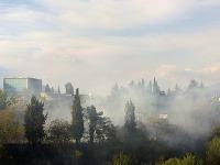 Okolie Podgorice je v plameňoch.
