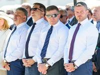 Peter Pellegrini, Robert Fico, Peter Kažimír a Ján Richter