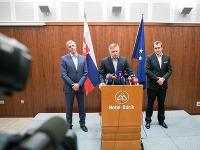 Fico, Danko a Bugár hovorí o výsledkoch rokovaní koaličnej rady