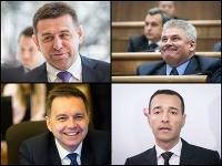 Peter Kažimír, Ján Richter, Tomáš Drucker, Lászlo Sólymos