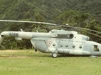 Zrútený vrtuľník v Mexiku