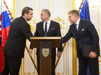 Andrej Kiska, Andrej Danko a Robert Fico