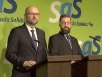 Mimoriadna tlačová konferencia k odchodu Martina Poliačika zo strany SaS.