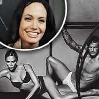 Angelina Jolie (hore), Victoria a David Beckhamovci