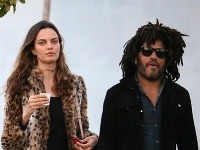 Lenny Kravitz s milenkou Barbarou Fialho.