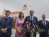 Richard Sulík, Ľudovít Kaník, Veronika Remišová a Alojz Hlina