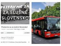 Prinášame vám informácie o odklone mestskej hromadnej dopravy počas dnešného zhromaždenia Za slušné Slovensko