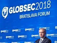 Prezident Andrej Kiska počas otvorenia konferencie GLOBSEC.