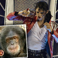 Michael Jackson a jeho šimpanz Bubbles