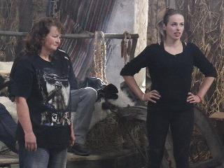Miriam Pribanič (vľavo) vyradila z hry už tretiu farmárku.