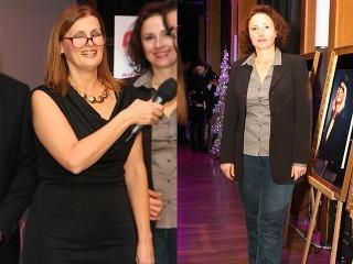 Katarína Brychtová  a Zuzana Mauréry v staromódnych outfitoch.