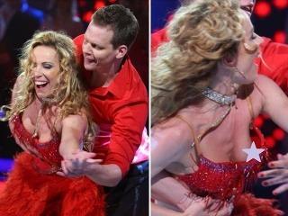 Diana Mórová ukázala počas večera oveľa viac než len skvelý tanečný výkon. Na parkete odhalila bradavku.