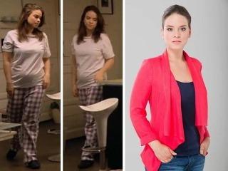 Kristíne Svarinskej sa v seriáli Chlapi neplačú akosi zväčšilo bruško.
