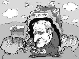 KARIKATÚRA Pustovník Bezák už tri roky bez domova