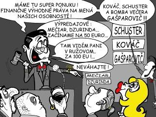 KARIKATÚRA Výpredaj slovenských politikov