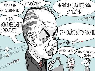 KARIKATÚRA Prezident Kiska sa prihovára k národu