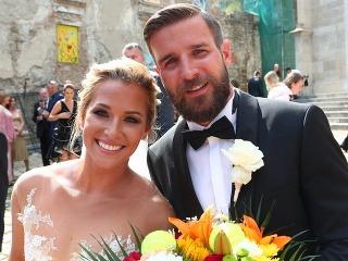 Dominika Cibulková a jej manžel Michal.