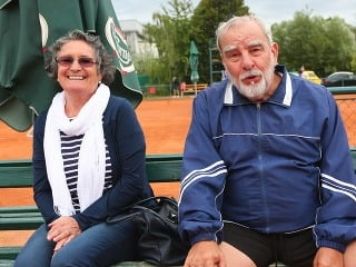 Marián Slovák s manželkou Evou Matejkovou