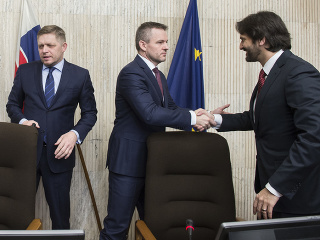Robert Fico, Peter Pellegrini a Robert Kaliňák