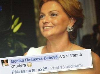 Jediná fotka a Monika Beňová vyvolala konflikt: Si trápna chudera, odkazuje politička