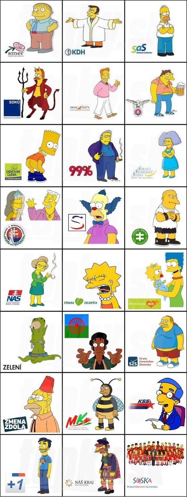 politici-volby-kampan-vtipne-obrazky-Simpsonovci - vtipný obrázok - Kalerab.sk