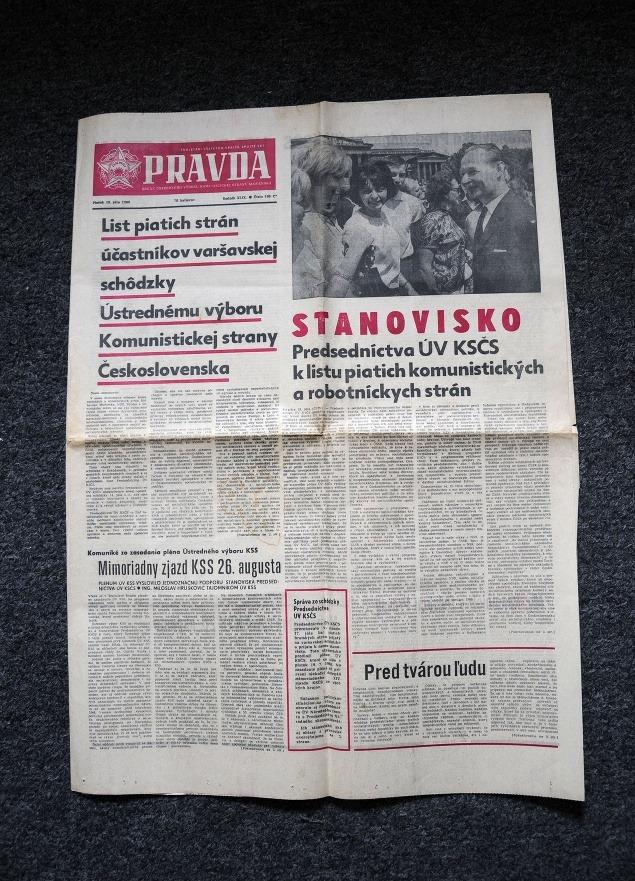 Noviny z augusta 1968.
