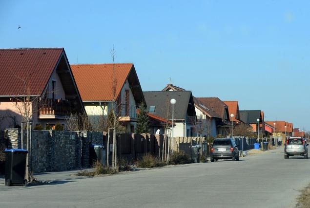 Novopostavené domy v Dunajskej
