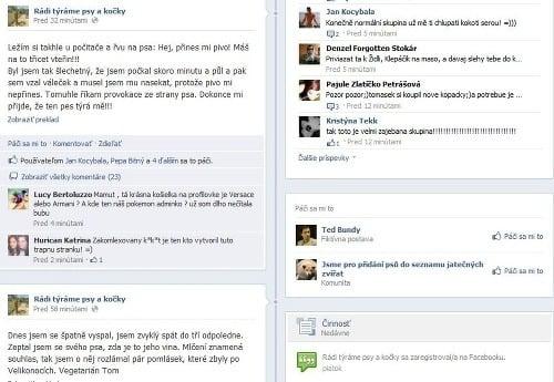 Otras na Facebooku: Týranie