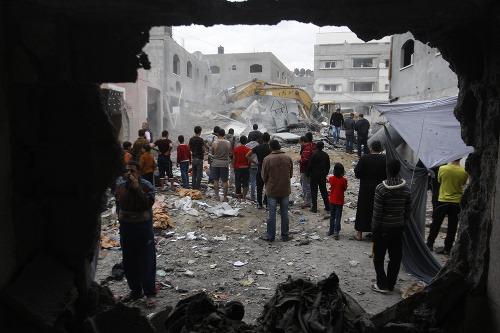 Izrael bombardoval sídlo lídra