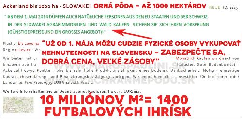 Masaker slovenskej pôdy sa