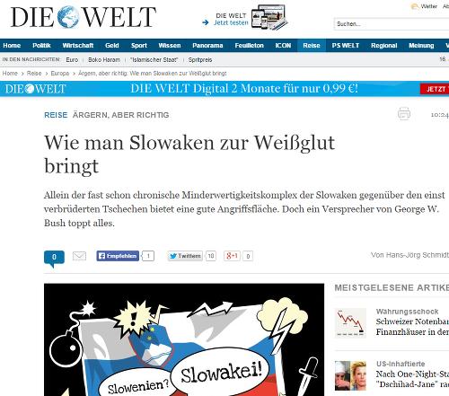 Významný nemecký denník totálne