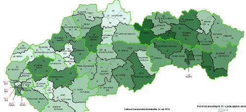 Polícia zverejnila mapu kriminality: