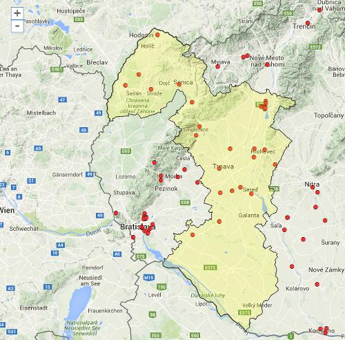 Mapa najnebezpečnejších skládok Slovenska: