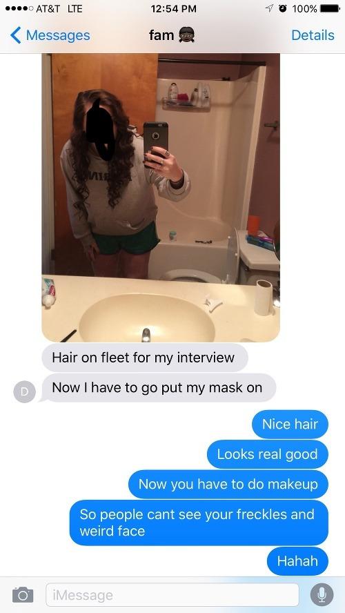 Tínedžerka rodine poslala drsné