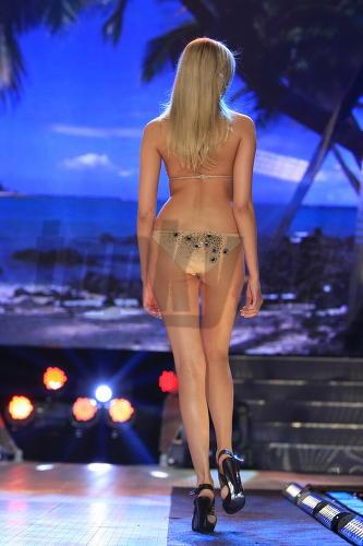 Takto vyzerá Miss Universe 2009 pri pohľade zo zadu.
