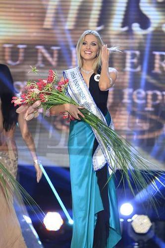 Denisa priamo po vyhlásení výsledkov. Stala sa Miss Universe.