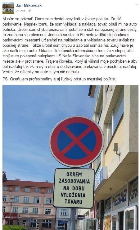 Status Jána Mikovčáka