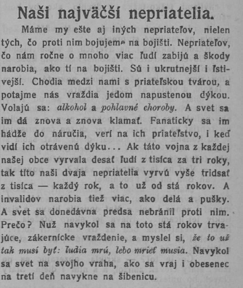 Noviny pred storočím písali